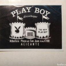 Postales: ANTIGUA DISCOTECA PLAY BOY - ALICANTE - ESPAÑA. ALBUFERETA. PUBLICIDAD FOLLETO POSTAL. Lote 292028913