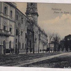 Postales: VALENCIA. PLAZA DE SANTO DOMINGO. TRENKLER ESCRITA. SIN CIRCULAR.. Lote 293805133