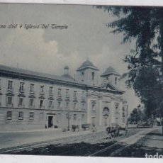 Postales: VALENCIA. GOBIERNO CIVIL E IGLESIA DEL TEMPLE. TRENKLER CIRCULADA.. Lote 293805448