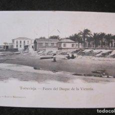Postales: TORREVIEJA-PASEO DEL DUQUE DE LA VICTORIA-Nº 4 ACACIO REBAGLIATO-VER REVERSO-POSTAL ANTIGUA-(85.125). Lote 294965208