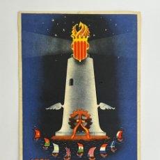 Postales: XXVI, FERIA MUESTRARIO INTERNACIONAL. VALENCIA 10 - 25 MAYO 1948 LIT. ORTEGA, VALENCIA. Lote 295395693