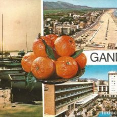 Postales: [POSTAL] DIVERSOS ASPECTOS. GANDÍA (VALENCIA) (CIRCULADA). Lote 295491418