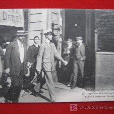 Postales: ALFONSO XIII, VISITA A LA EXPOSICIÓN MARÍTIMA INTERNACIONAL, POSTAL CIRCULADA. Lote 4534059