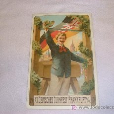Postales: XI DEUTSCHES TURNFEST FRANKFUT 1908 GESETZ GESCHUTZT. Lote 10464366