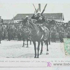 Postales: ANTIGUA POSTAL S. M. EL REY DON ALFONSO XIII EN A CHALONS - MONARQUIA - CIRCULADA.. Lote 10576880