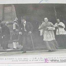 Postales: ANTIGUA POSTAL S. M. EL REY DON ALFONSO XIII EN PARIS - MONARQUIA - NO CIRCULADA.. Lote 8753500