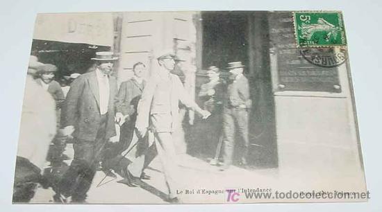 ANTIGUA POSTAL S. M. EL REY DON ALFONSO XIII - MONARQUIA - NO CIRCULADA. (Postales - Postales Temáticas - Conmemorativas)