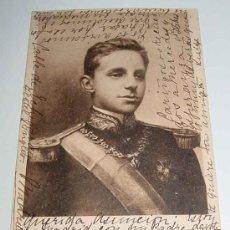 Postales: ANTIGUA POSTAL DE S. M. EL REY DON ALFONSO XIII - ED. HAUSER Y MENET - CIRCULADA SIN DIVIDIR.. Lote 5412866