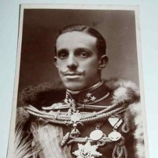 Postales: ANTIGUA FOTO POSTAL DEL REY ALFONSO XIII - MONARQUIA - NO CIRCULADA - FRANZEN.. Lote 5414846