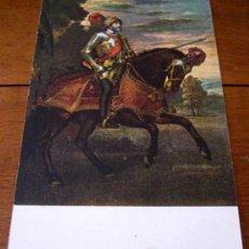 Postales: ANTIGUA POSTAL DEL EMPERADOR CARLOS V - EN LA BATALLA DE MÜHLBERG - TIZIANO - MUSEO DEL PRADO - ED. . Lote 5549895