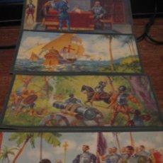 Postales: HERNAN CORTES COLECION DE 10 CROMOS. Lote 27505059