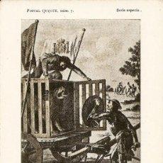 Postales: POSTAL QUIJOTE NÚM. 7 - EDICION ESPECIAL - PRIMEROS AÑOS XX - EDITADAS POR A. PÉREZ ASENSIO . Lote 25181630