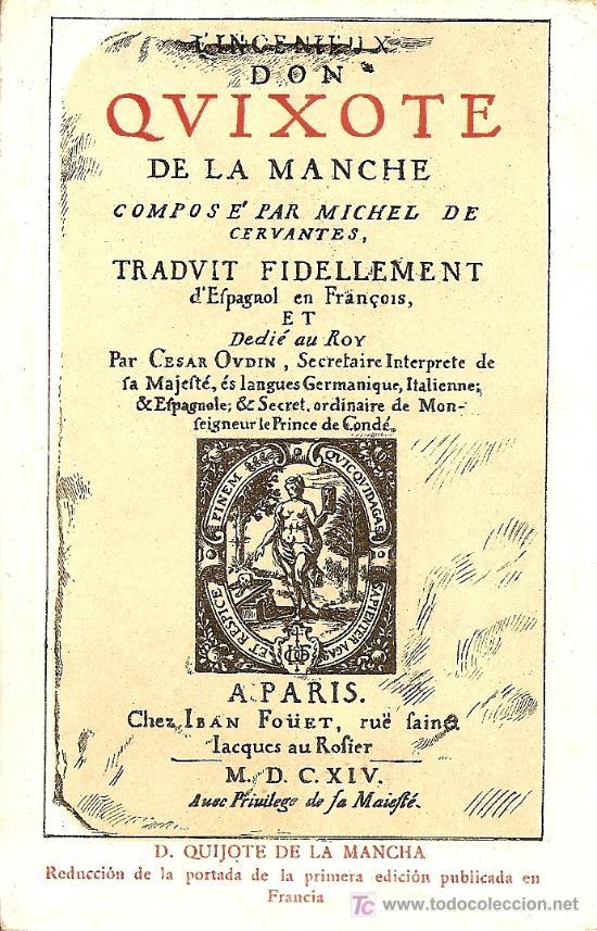 POSTAL D. QUIJOTE DE LA MANCHA - PRIMEROS AÑOS XX - SIN CIRCULAR (Postales - Postales Temáticas - Conmemorativas)
