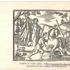 Postales: POSTAL Nº 7 DE LA COLECCION, RECUERDO DEL 3ER CENTENARIO DE LA MUERTE DE CERVANTES, GRABADO. Lote 12091237