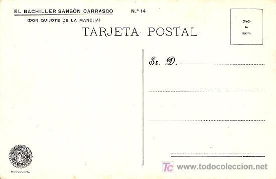 Postales: POSTAL DON QUIJOTE Nº 14 SIN CIRCULAR AÑOS 20 - EDITORIAL AMBOS MUNDOS - Foto 2 - 20189810