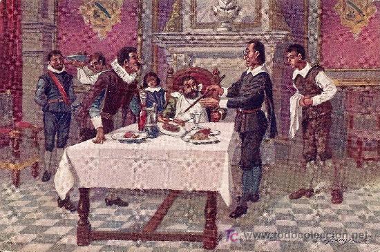 POSTAL DON QUIJOTE Nº 22 MANUSCRITA FECHADA AÑO 1917 - EDITORIAL AMBOS MUNDOS (Postales - Postales Temáticas - Conmemorativas)