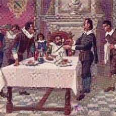 Postales: POSTAL DON QUIJOTE Nº 22 MANUSCRITA FECHADA AÑO 1917 - EDITORIAL AMBOS MUNDOS. Lote 27456609