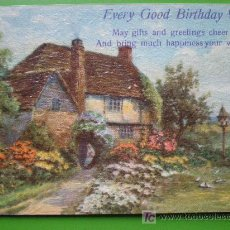 Postales: EVERY GOOD BIRTHDAY WISH (SELLADA EN 1931, INGLATERRA). Lote 23756712