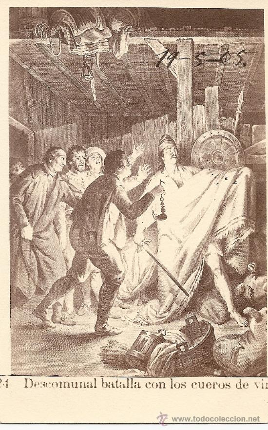 POSTAL DON QUIJOTE - FECHADA AÑO 1905 (Postales - Postales Temáticas - Conmemorativas)