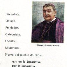 Postales: POSTAL CENTENARIO(1877-1977)DEL OBISPO MANUEL GONZALEZ .(VER LA OTRA CARA DE LA POSTAL). Lote 11224344