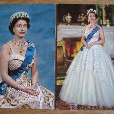 Postales: HER MAJESTY QUEEN ELIZABETH II. 2 POSTALES . 1 CIRCULADA 1969. Lote 21292554