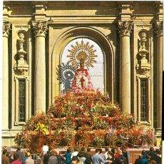 Postales: **ZARAGOZA** OFRENDA DE FLORES A LA VIRGEN DEL PILAR.. Lote 27226975