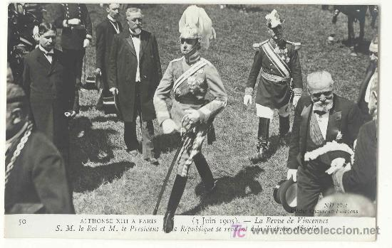TARJETA POSTAL FOTOGRAFICA DE LA VISITA DE ALFONSO XIII A PARIS 1905 - Nº 50 - MONARQUIA (Postales - Postales Temáticas - Conmemorativas)