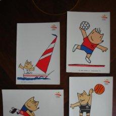 Postales: 4 POSTALES DE LA COLECCION OLIMPICA BARCELONA 92 - COBI. Lote 26432608