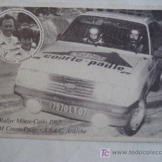 Postales: 50 RALLYE DE MONTE-CARLO. 1982. TEAM COURTE-PAILLE - A.S.A.C. ARDECHE. SIN CIRCULAR. Lote 26446953