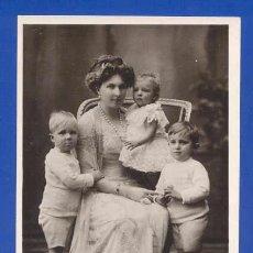 Postales: PRECIOSA POSTAL: S. M. VICTORIA EUGENIA DE BATTENBERG, REINA DE ESPAÑA Y LOS INFANTES. Lote 27506867
