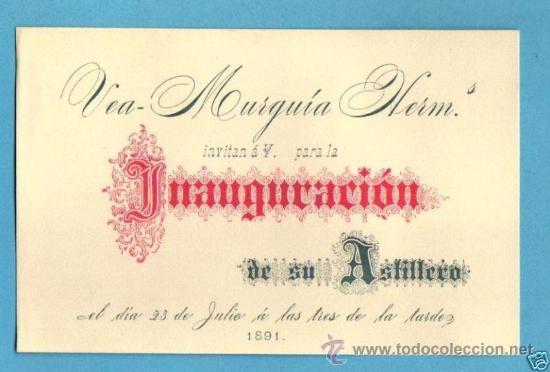 Tarjeta De Invitacion 1891 Art Nouveau A L Sold Through