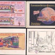 Postales: ÁLBUM COMPLETO DE TRANVÍAS DE BARCELONA DURANTE LA EXPOSICIÓN INTERNACIONAL DE BARCELONA DE 1929.. Lote 15572422