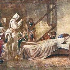 Postales: MUERTE DE COLÓN EN 1506. POSTAL COLOR, C. 1930. Lote 24891326