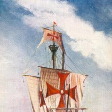 Postales: LAS TRES CARABELAS DE COLÓN EN SU VIAJE A AMÉRICA. POSTAL COLOR, C. 1930. Lote 26696938