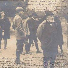 Postales: OCTUBRE 1905. M. LOUBET Y S.M. EL REY EN UN DESCANSO DE LA CACERÍA. Lote 16412608