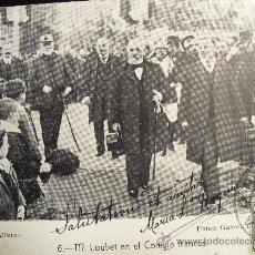 Postales: NOVIEMBRE 1905 - M. LOUBET EN EL COLEGIO FRANCES (DE MADRID). Lote 26555091