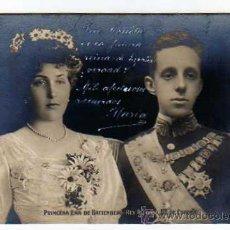 Postales: ALFONSO XIII Y PRINCIESA VICTORIA EUGENIA REYES DE ESPAÑA ROTOPHOT BERLIN. BODA.. Lote 19018533