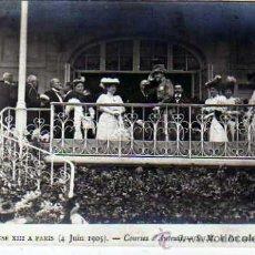 Postales: ALFONSO XIII EN PARIS. FRANCIA. Nº 57. 4 DE JUNIO DE 1905. S.M. LER ROI SALUANT M. LOUBET.,. Lote 19019727