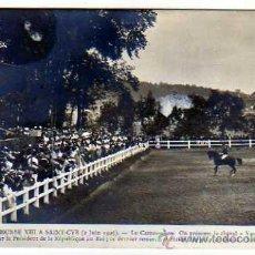 Postales: ALFONSO XIII EN SAINT CYR FRANCIA 2 JUNIO DE 1905. HIPODROMO. N.D.. Lote 19098960