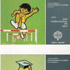 Postales: AÑO INTERNACIONAL DEL NIÑO - SERVICIO NACIONAL DE LOTERIAS 1979 - SERIE L - COMPLETA. Lote 19477746
