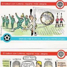 Postales: LOTERIA NACIONAL - SERIE Q - LA LOTERIA Y EL FUTBOL - 1981 - COMPLETA EN SU SOBRE ORIGINAL. Lote 20092423