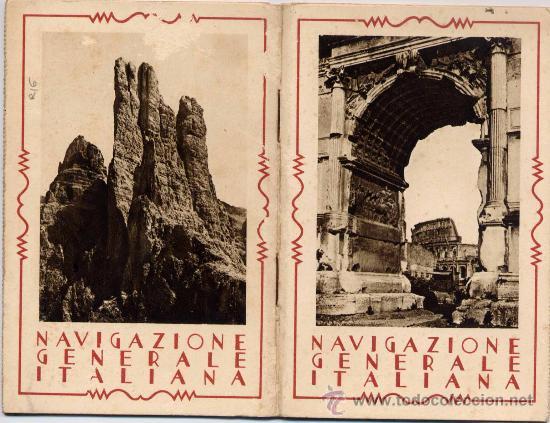 NAVIGAZIONE GENERALE ITALIANA.- EXPOSICIÓN INTERNACIONAL DE BARCELONA 1929. (Postales - Postales Temáticas - Conmemorativas)