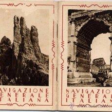 Postales: NAVIGAZIONE GENERALE ITALIANA.- EXPOSICIÓN INTERNACIONAL DE BARCELONA 1929.. Lote 19801147
