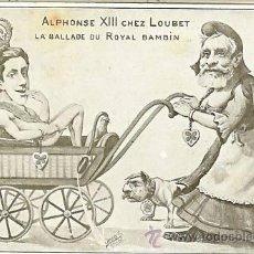 Postales: POSTAL SATÍRICA DE LA VISITA DEL REY ALFONSO XIII A PARIS Y LOUBET PRESIDENTE LA REPÚBLICA FRANCESA . Lote 27573094