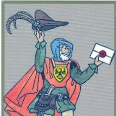Postales: 500 ANIVERSARIO DEL CORREO ALEMAN 1990 POSTAL CONMEMORATIVA CARTERO DEL SIGLO XV UX. Lote 20650223