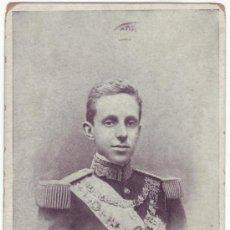Postales: MONARQUÍA: ALFONSO XIII, REY DE ESPAÑA. M.J.S. CIRCULADA (1905). Lote 25387067