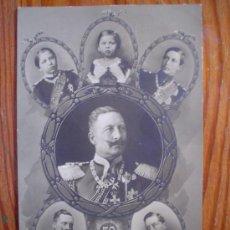 Postales: 1909 - DEUTSCHES REICH - 5O AÑOS DEL KAISER GUILLERMO II DE PRUSIA, NUESTRO EMPERADOR - CIRCULADA . Lote 27387472