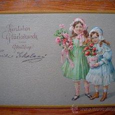 Postales: 1909 - DEUTSCHES REICH - FELÍZ CUMPLEAÑOS - TARJETA POSTAL CIRCULADA - (POSTKARTE). Lote 27387473
