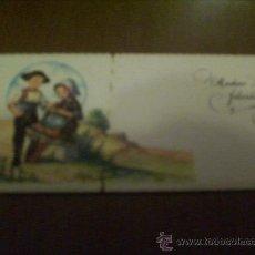 Postales: POSTAL-TARJETA FELICITACION. MOTIVO TRAJES REGIONALES DE ESPAÑA. AÑOS 50.. SIN CIRCULAR. Lote 22206980