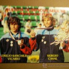 Postales: JUEGOS OLIMPICOS SEUL '88, MEDALLA DE PLATA. SÁNCHEZ VICARIO / SERGIO CASAL.. Lote 23263567
